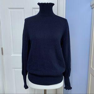 Rebecca Taylor ruffled turtleneck sweater